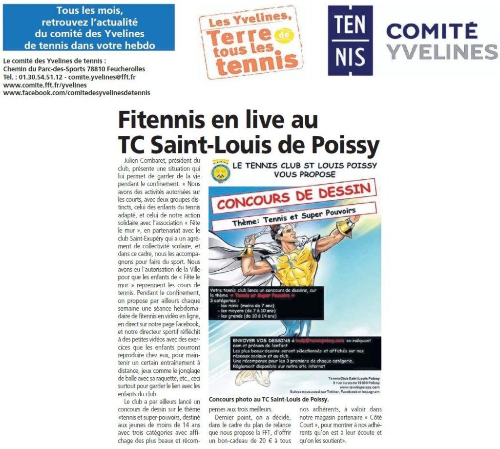 Novembre 2020 - Le Comité des Yvelines de tennis