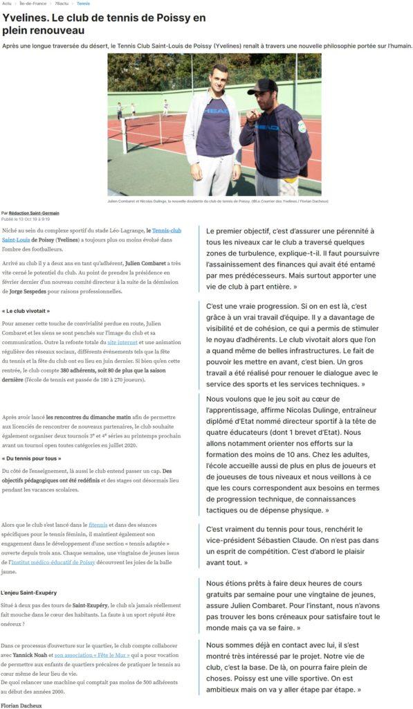 Octobre 2019 - Le Courrier des Yvelines